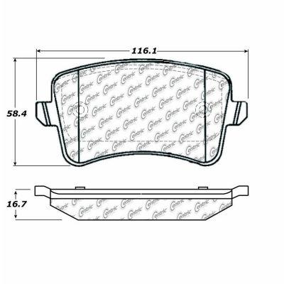 Posi Quiet Semi-Metallic Brake Pads with Hardware , Posi Quiet 104.13860