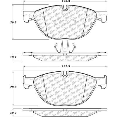 Posi Quiet Semi-Metallic Brake Pads , Posi Quiet 104.14090
