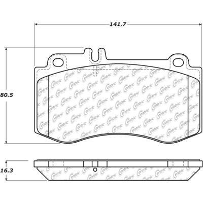 Posi Quiet Semi-Metallic Brake Pads with Hardware , Posi Quiet 104.14200