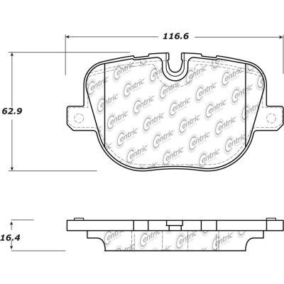 Posi Quiet Semi-Metallic Brake Pads with Hardware , Posi Quiet 104.14270