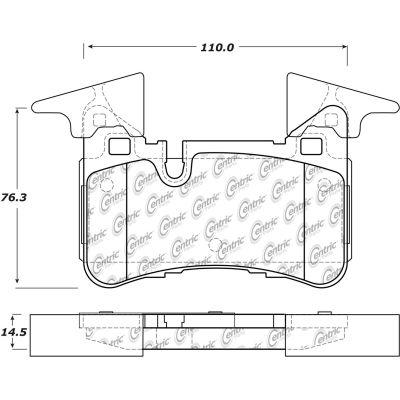 Posi Quiet Semi-Metallic Brake Pads , Posi Quiet 104.14500