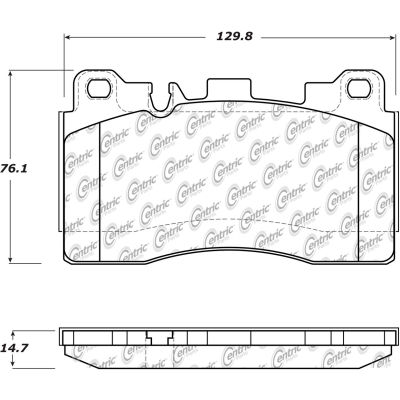Posi Quiet Semi-Metallic Brake Pads with Hardware , Posi Quiet 104.15310