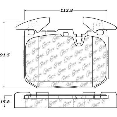 Posi Quiet Semi-Metallic Brake Pads with Hardware , Posi Quiet 104.16090