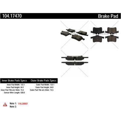 Posi Quiet Semi-Metallic Brake Pads , Posi Quiet 104.17470