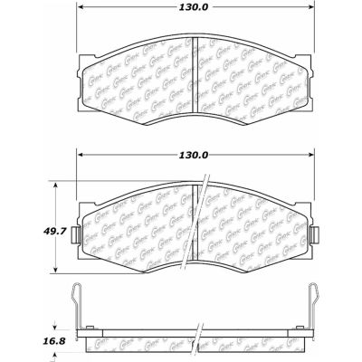 Posi Quiet Ceramic Brake Pads with Shims and Hardware , Posi Quiet 105.02660