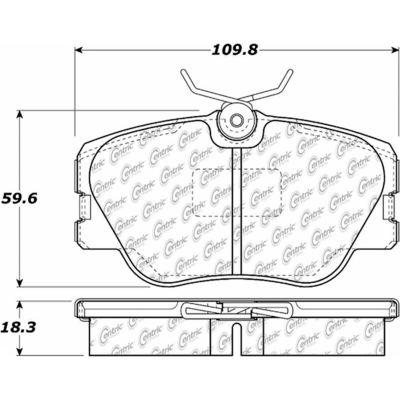 Posi Quiet Ceramic Brake Pads with Shims and Hardware , Posi Quiet 105.04230