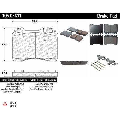 Posi Quiet Ceramic Brake Pads with Shims and Hardware , Posi Quiet 105.05611