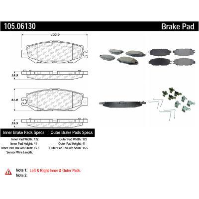 Posi Quiet Ceramic Brake Pads with Shims and Hardware , Posi Quiet 105.06130