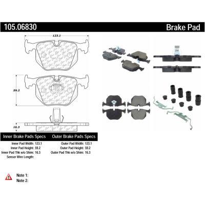 Posi Quiet Ceramic Brake Pads with Shims and Hardware , Posi Quiet 105.06830