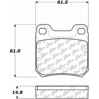 Posi Quiet Ceramic Brake Pads with Shims , Posi Quiet 105.07091