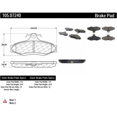 Posi Quiet Ceramic Brake Pads with Shims , Posi Quiet 105.07240