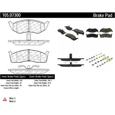 Posi Quiet Ceramic Brake Pads with Shims and Hardware , Posi Quiet 105.07300