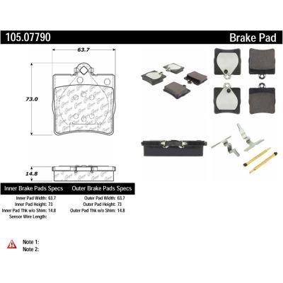 Posi Quiet Ceramic Brake Pads with Shims and Hardware , Posi Quiet 105.07790