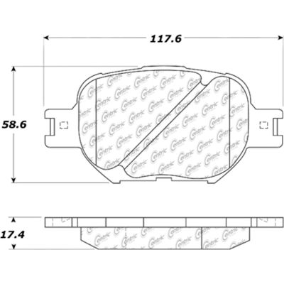Posi Quiet Ceramic Brake Pads with Shims and Hardware , Posi Quiet 105.08170