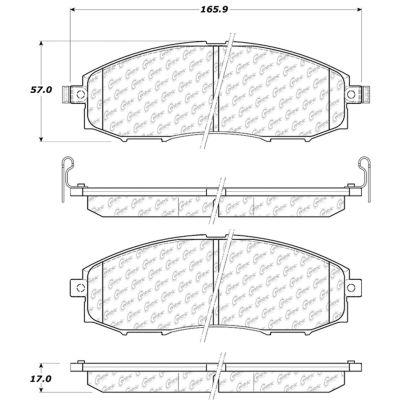 Posi Quiet Ceramic Brake Pads with Shims and Hardware , Posi Quiet 105.08300