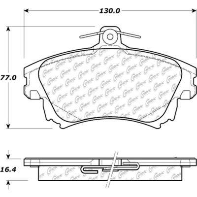 Posi Quiet Ceramic Brake Pads with Shims , Posi Quiet 105.08370