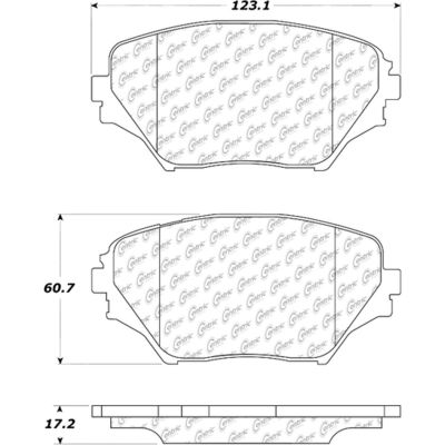 Posi Quiet Ceramic Brake Pads with Shims and Hardware , Posi Quiet 105.08620