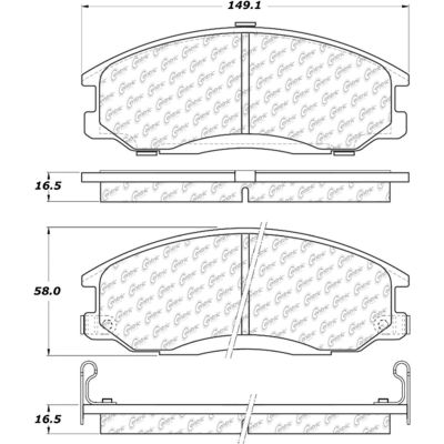 Posi Quiet Ceramic Brake Pads with Shims and Hardware , Posi Quiet 105.08640