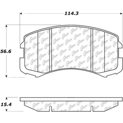 Posi Quiet Ceramic Brake Pads with Shims and Hardware , Posi Quiet 105.09040