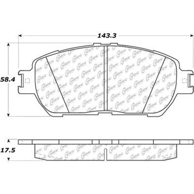 Posi Quiet Ceramic Brake Pads with Shims and Hardware , Posi Quiet 105.09061