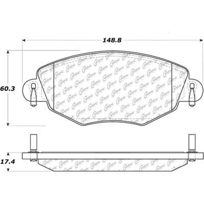 Posi Quiet Ceramic Brake Pads with Shims , Posi Quiet 105.09100