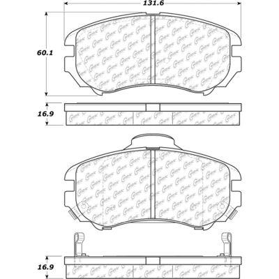 Posi Quiet Ceramic Brake Pads with Shims and Hardware , Posi Quiet 105.09240