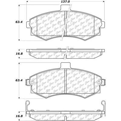 Posi Quiet Ceramic Brake Pads with Shims and Hardware , Posi Quiet 105.09410
