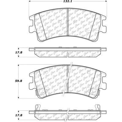 Posi Quiet Ceramic Brake Pads with Shims and Hardware , Posi Quiet 105.09570