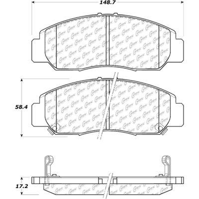 Posi Quiet Ceramic Brake Pads with Shims and Hardware , Posi Quiet 105.09590