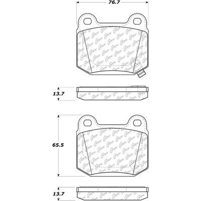 Posi Quiet Ceramic Brake Pads with Shims and Hardware , Posi Quiet 105.09610