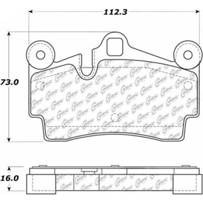 Posi Quiet Ceramic Brake Pads with Shims and Hardware , Posi Quiet 105.09780