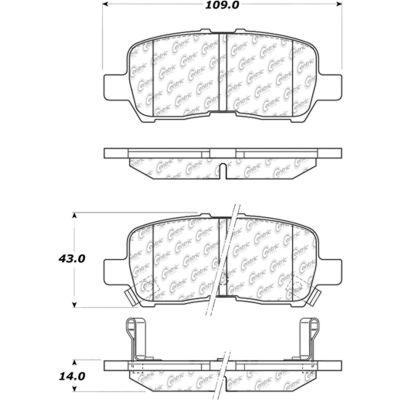 Posi Quiet Ceramic Brake Pads with Shims and Hardware , Posi Quiet 105.09990