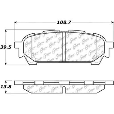 Posi Quiet Ceramic Brake Pads with Shims and Hardware , Posi Quiet 105.10040
