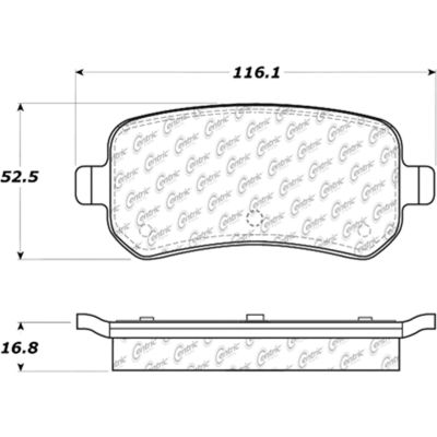 Posi Quiet Ceramic Brake Pads with Shims and Hardware , Posi Quiet 105.10210