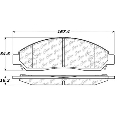 Posi Quiet Ceramic Brake Pads with Shims and Hardware , Posi Quiet 105.10390