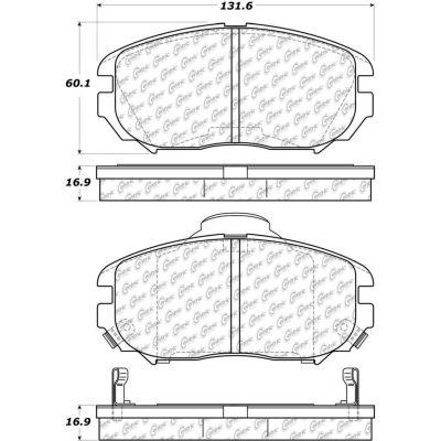 Posi Quiet Ceramic Brake Pads with Shims and Hardware , Posi Quiet 105.11250