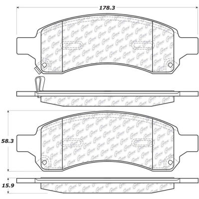 Posi Quiet Ceramic Brake Pads with Shims and Hardware , Posi Quiet 105.11691
