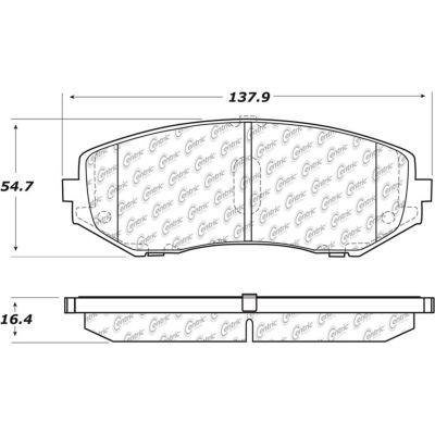 Posi Quiet Ceramic Brake Pads with Shims and Hardware , Posi Quiet 105.11880
