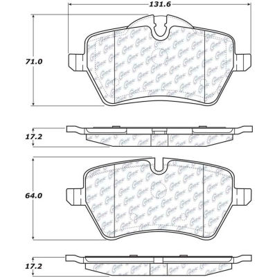 Posi Quiet Ceramic Brake Pads with Shims and Hardware , Posi Quiet 105.12040