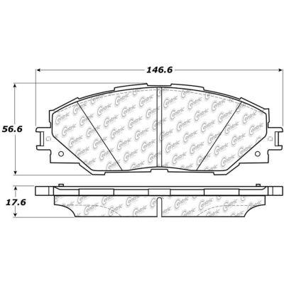 Posi Quiet Ceramic Brake Pads with Shims and Hardware , Posi Quiet 105.12110