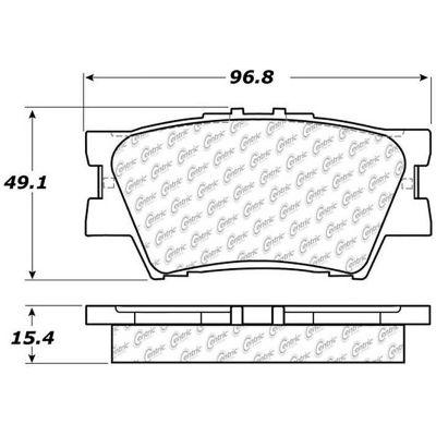Posi Quiet Ceramic Brake Pads with Shims and Hardware , Posi Quiet 105.12120