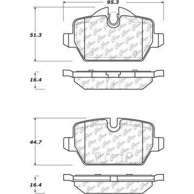 Posi Quiet Ceramic Brake Pads with Shims and Hardware , Posi Quiet 105.12260