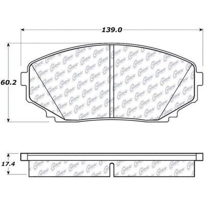 Posi Quiet Ceramic Brake Pads with Shims and Hardware , Posi Quiet 105.12580
