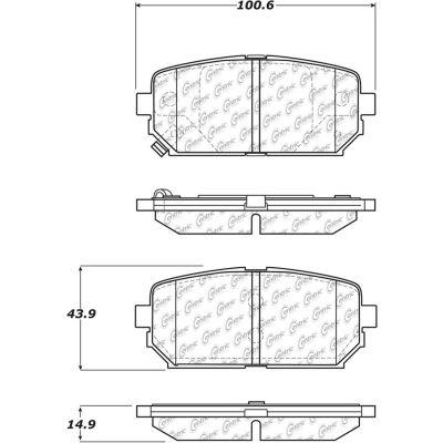Posi Quiet Ceramic Brake Pads with Shims and Hardware , Posi Quiet 105.12960