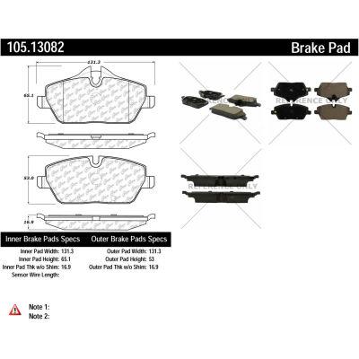 Posi Quiet Ceramic Brake Pads with Shims and Hardware , Posi Quiet 105.13082