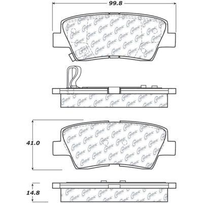 Posi Quiet Ceramic Brake Pads with Shims and Hardware , Posi Quiet 105.13130