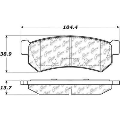 Posi Quiet Ceramic Brake Pads with Shims and Hardware , Posi Quiet 105.13150