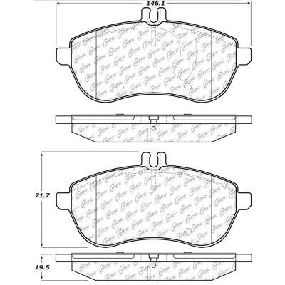 Posi Quiet Ceramic Brake Pads with Shims and Hardware , Posi Quiet 105.13400