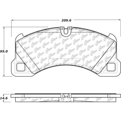 Posi Quiet Ceramic Brake Pads with Shims and Hardware , Posi Quiet 105.13490