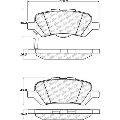 Posi Quiet Ceramic Brake Pads with Shims and Hardware , Posi Quiet 105.14020